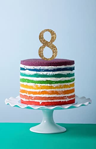 Amazoncom Cake Topper Numbers in Glitter Age Numbers Kids