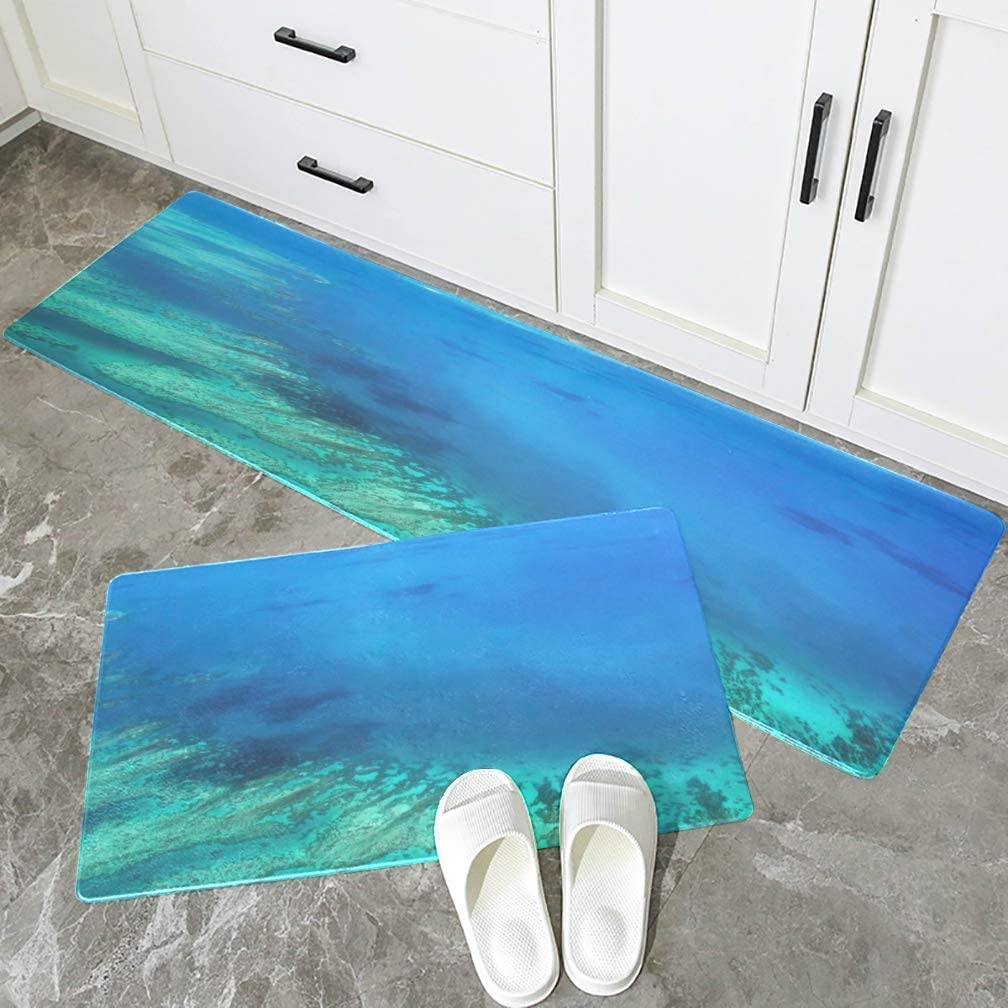 Amazon.com: Anti Slip Kitchen Mat Australia Great Barrier Reef Coral Non-Slip Kitchen Rugs Washable Waterproof Stain Resistant Foot Mats For Kitchen Set Of 2 Pieces: Kitchen & Dining