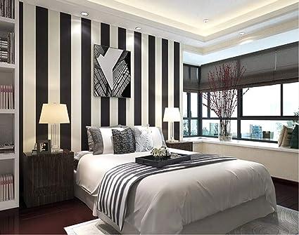 Pareti A Strisce Bianco E Nero : Bianco e nero carta da parati a righe moderna minimalista classico