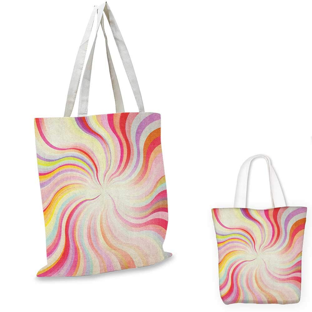 12x15-10 Pastel canvas messenger bag Abstract Blurry Colors Composition Sweet Daydream Fantasy Miscellaneous canvas beach bag Pink Aqua Peach White