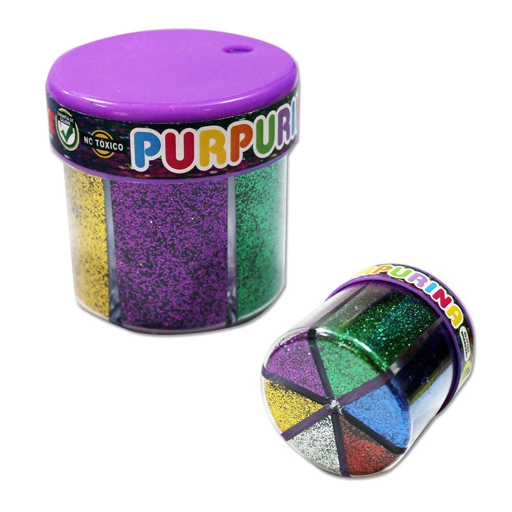 131550 - Pack de 2 Botes de purpurina en polvo, 6 colores, con dosificador, 10gr cada color STARPLAST