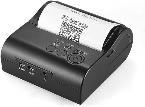 KKmoon Impresora de Recibos Térmica POS-8001DD 80mm Mini ...