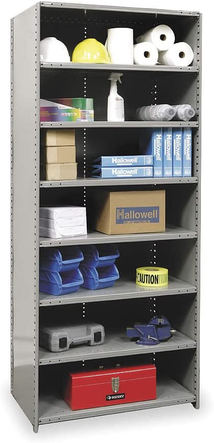 Hi Tech Extra Heavy Duty Closed Type 87 H 7 Shelf Shelving Unit Starter Size 87 H X 48 W X 12 D Office Products