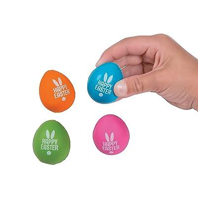 Fun Express Easter Mini Egg Stress Toys - Toys - 24 Pieces: Toys & Games