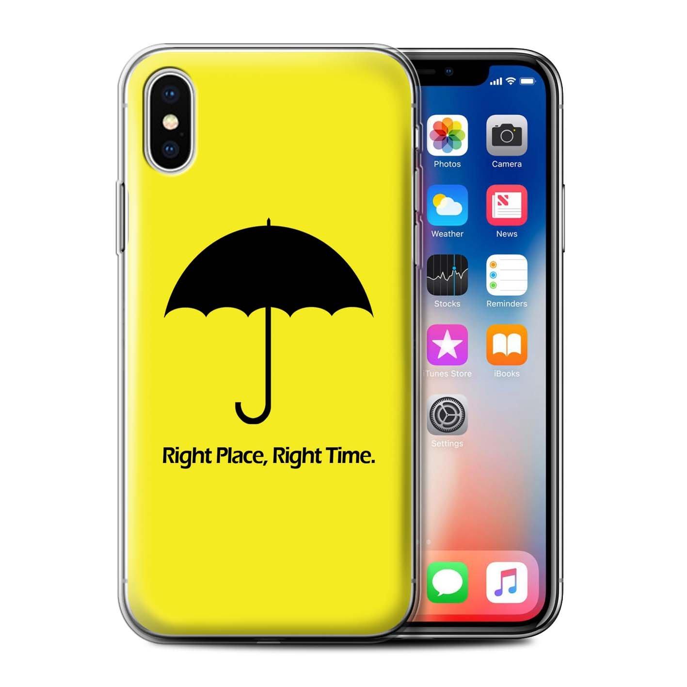 Stuff4® Gel TPU Hülle/Case für Apple iPhone X/10/Suit Up!/Hemd und Krawatte Muster/Lustige Komödie Sitcom TV Kollektion
