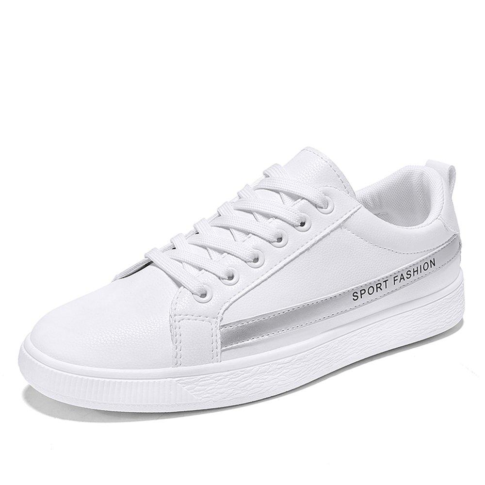 MUOU Schuhe Herren Freizeitschuhe Bequeme Runde Toe Mauml;nner Lace-Up Flache Sneaker Mode Atmungsaktive Schuhe  44 EU|Grau