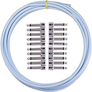 product image for LAVA CABLE TIGHTROPE SOLDER-FREE XL PEDAL BOARD KIT 10' CABLE 20 RA PLUGS (Blue)