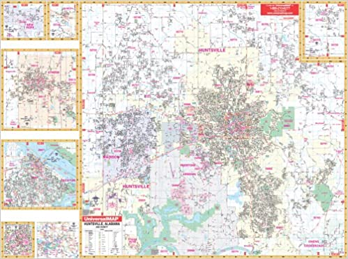 Amazon.com: Huntsville, Al (City Wall Maps) (9780762544745 ...