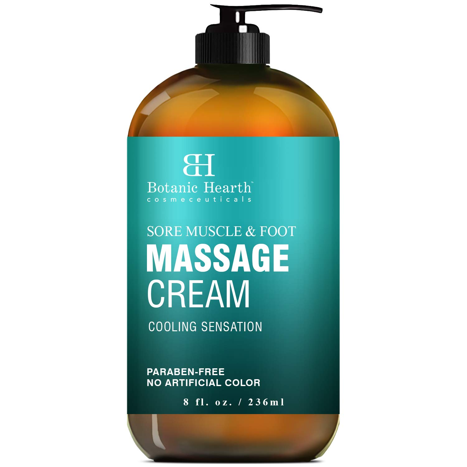 BOTANIC HEARTH Foot and Sore Muscle Massage Cream with Menthol - Soothes Tired Feet, Sore Muscles and Joint Pain, 8 fl oz by Botanic Hearth