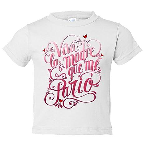 Camiseta niño viva la madre que me parió rosa - Blanco e95a2c8341f34
