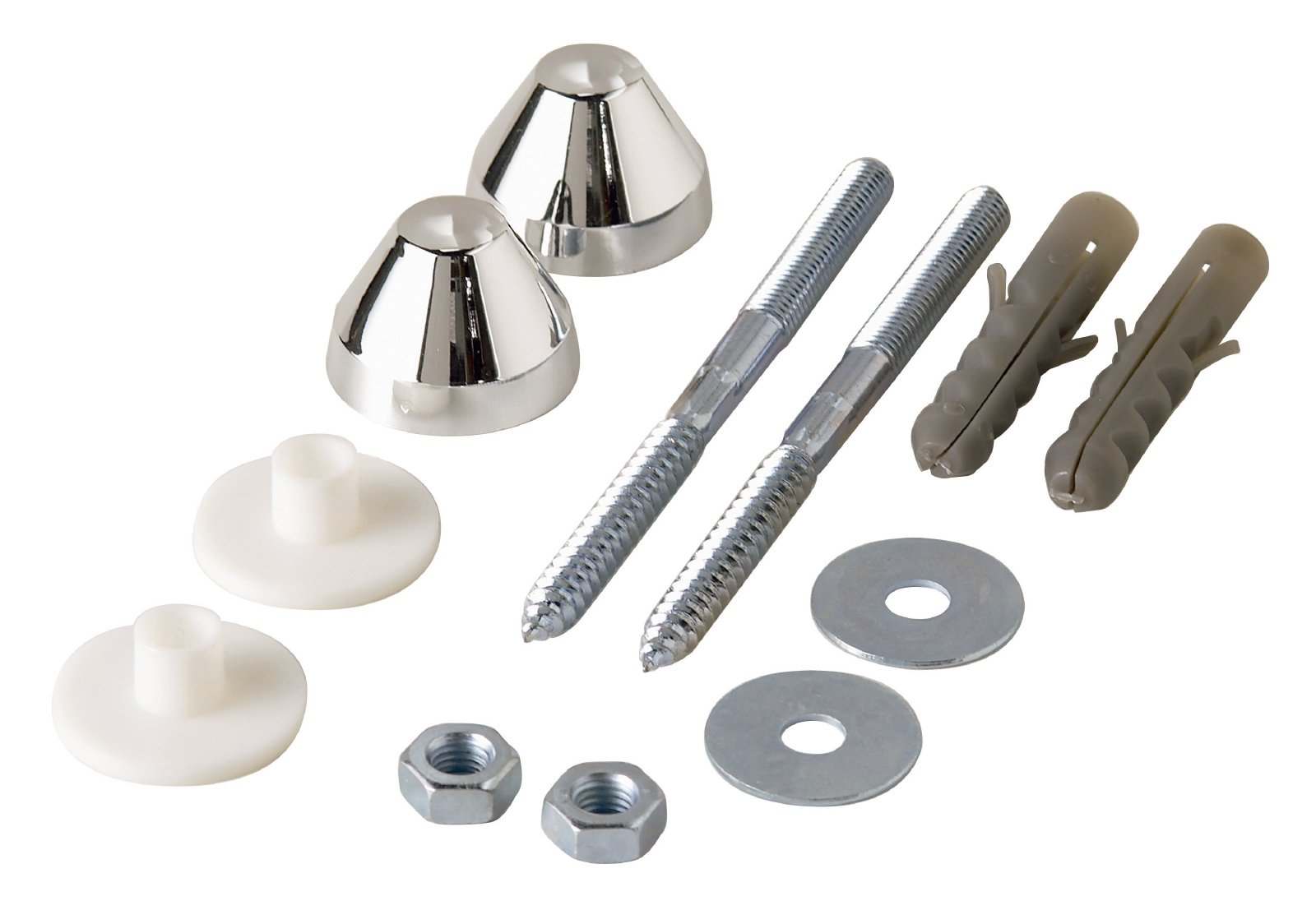 Sanitop-Wingenroth 221986Fixing Set for Urinal (1), Chrome