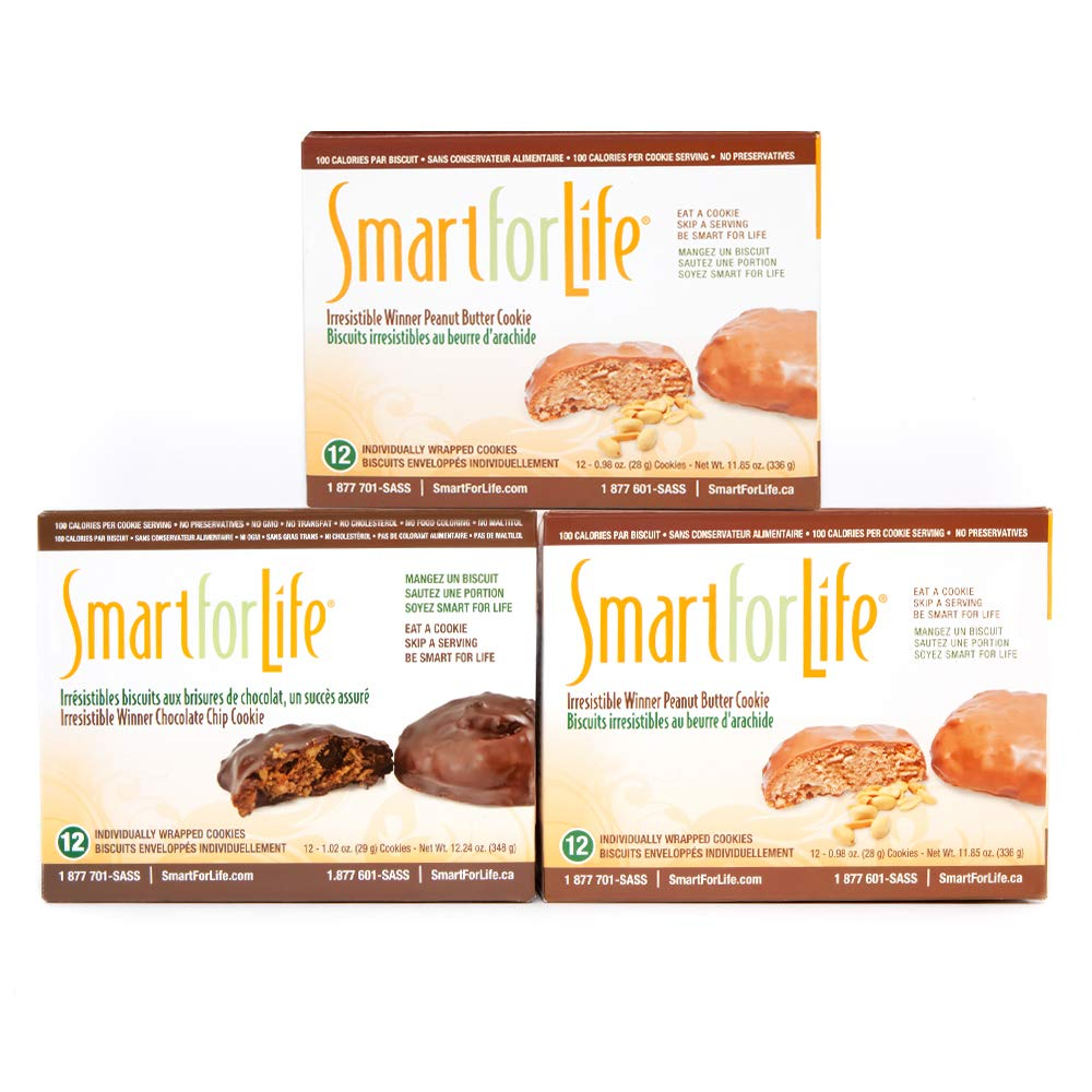 Smart for Life 3-12ct. Boxes Irresistible Winner Variety Pack - 2 Boxes Peanut Butter Chocolate, 1 Box Chocolate Chip by Smart for Life (Image #1)
