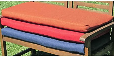 outdoor porch swing cushion with solid fabric 56 in paprika
