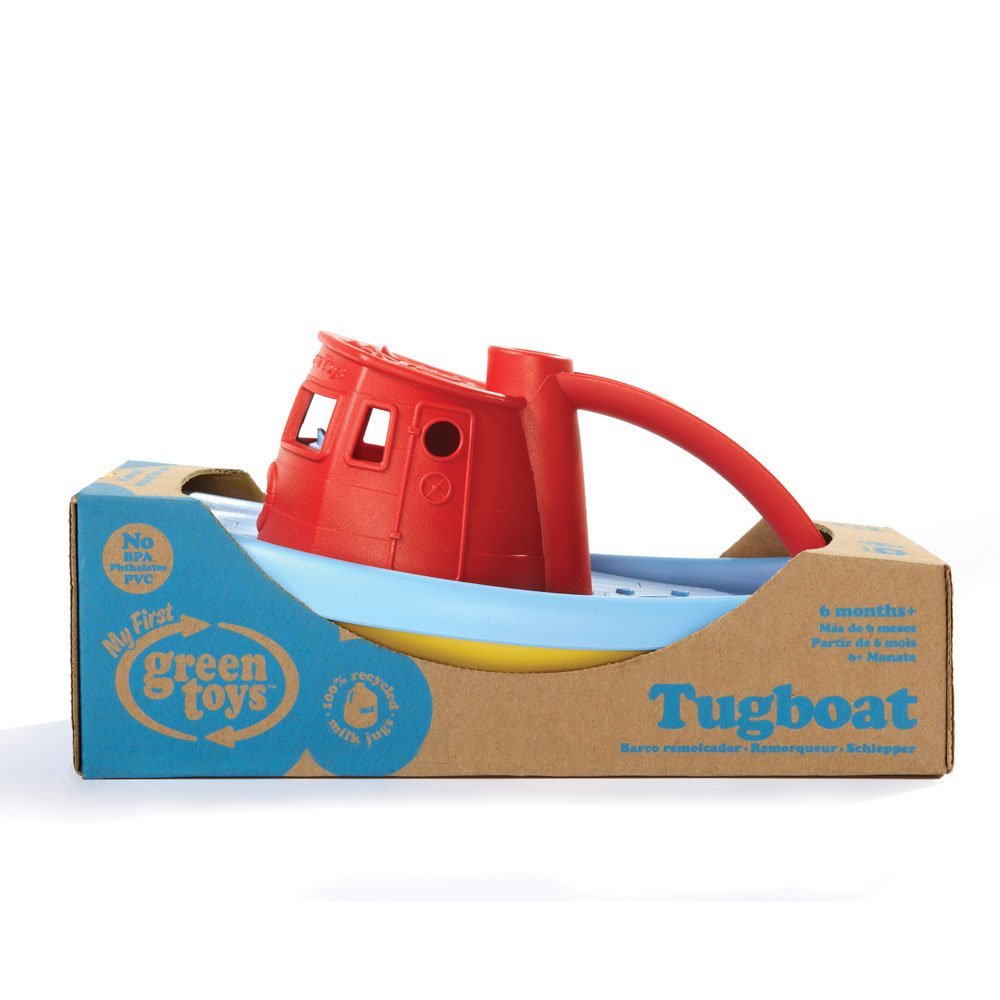 Red Handle Green Toys Tugboat
