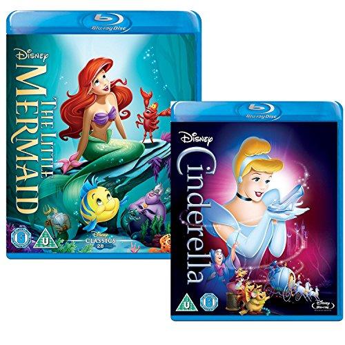 (The Little Mermaid - Cinderella - Walt Disney 2 Movie Bundling Blu-ray )