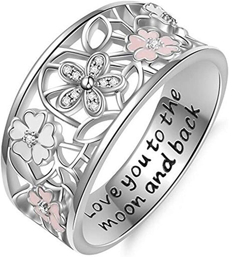 Cherryn Vintage Solid Women Butterfly sterling silver engagement ring fashion rings for women