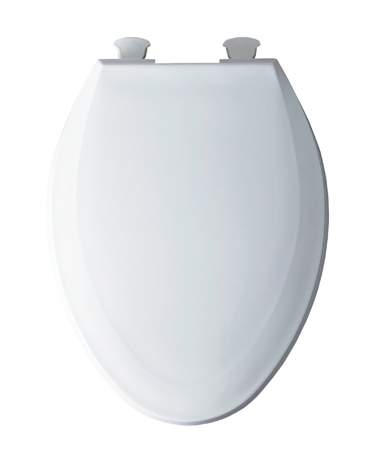 Bemis 1100EC 000 Plastic Elongated Toilet Seat with Easy Clean & Change Hinges, White