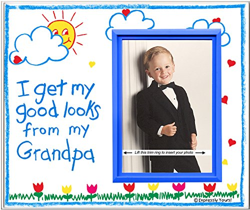 Grandpa Picture Frame | Affordable, Colorful and Fun | Holds 3.5 x 5 Photo | From Boy or Girl | Innovative Front-Loading Design | Crayola Theme (Goods Wa Vancouver Home)