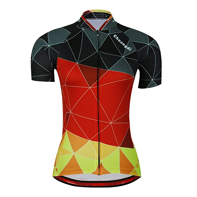 Amazon.com: Mujer Ciclismo Jersey Hermosa Bicicleta Ropa de ...