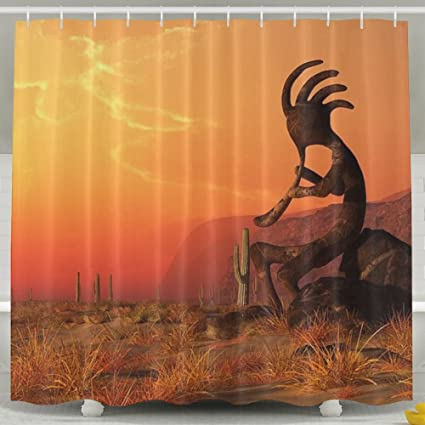TPXYJOF Kokopelli In The Southwest 6072 Inch Bathroom Shower Curtain Set Waterproof Mold And Mildew Resistant
