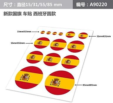 Juego de calcomanías para Coche de la Bandera española de España ...
