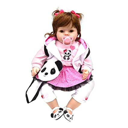 Amazon Com Lifelike Doll For 2 Year Old Girl Silicon Girl Panda