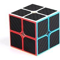 Three Horses 2*2*2 Cube Shelf Speed Cube Magic Cube 3D Puzzle Cube Easy Turning Smooth Feel Good Speed (Black)