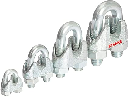 Seilwerk STANKE 25 x Seilklemme B/ügelform Gr/ö/ße 16 f/ür 16 mm Drahtseile Verzinkt Seilverbinder Stahlseil