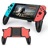 BestFire Nintendo Switch Grip Multifunction Adjustable Hand Grips Handheld Comfortable Handle Stand Foldable Gripstand for Nintendo Switch Joy Con (Black)