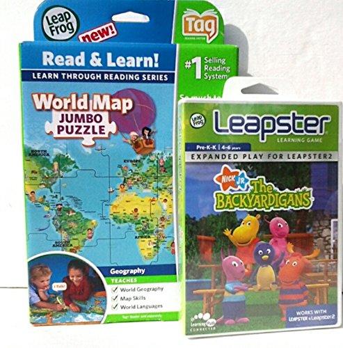 Interactive World Map Puzzle Leapfrog Learning Game Backyardigans