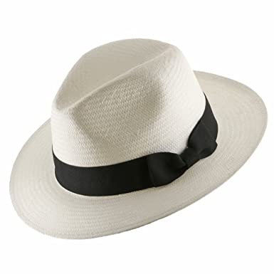 Ultrafino Trilby Straw Fedora Panama Hat at Amazon Men s Clothing store  85e41eb9d63