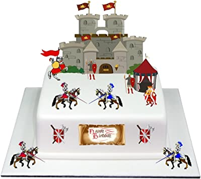 Fantastic Medieval Knight Castle Happy Birthday Stand Up Cake Scene Made Funny Birthday Cards Online Eattedamsfinfo