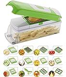 ROYAL ALFA Vegetable & Fruit Chipser with 11 Blades + 1 Free Peeler Inside, Vegetable Chopper, Vegetable Slicer (11 Blades + 1 Pillar)