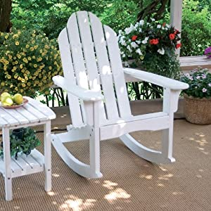 ... Rocking Adirondack Chair Finish: White : Childrens Rocking Chairs