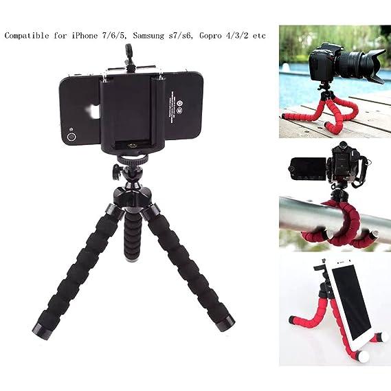 promo code 3fa36 b08e1 Mini Flexible Sponge Octopus Stand Tripod Mount For iPhone Samsung Camera  Video Phone (Black )