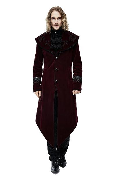 Uomini Inverno gotico Steampunk Spessore lungo Cappotto