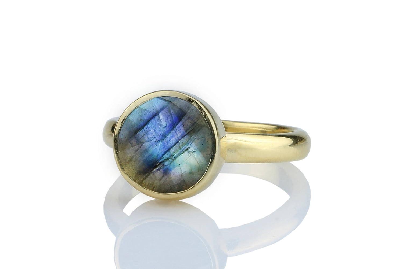 Labradorite ring, gold ring, stacking ring, gemstone ring, Labradorite stone ring, bezel ring, changing color