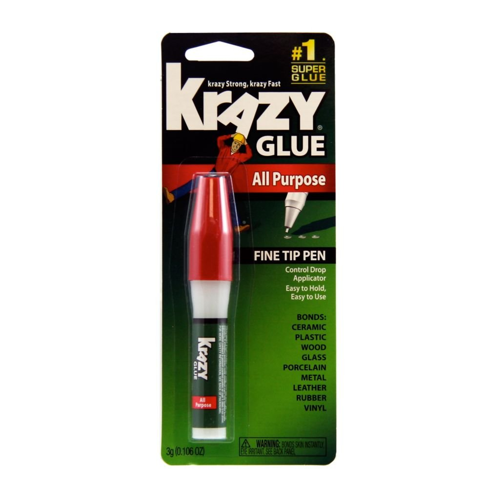 Krazy Glue All Purpose Super Glue Pen, Fine Tip, 3 Grams