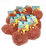 6 Pieces Of Chore Boy Copper Scouring Pad 100% Pure Copper Scrubber