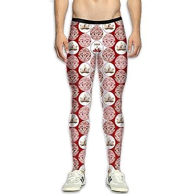 Fri Canada Beaver Compression Pants/Running Tights Gym Tights for Men Drawstring
