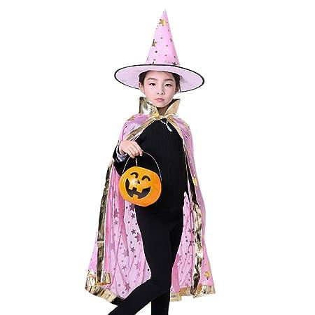 CZDXMCapa De Halloween Cos Capa De Bruja Capa Infantil Mago ...