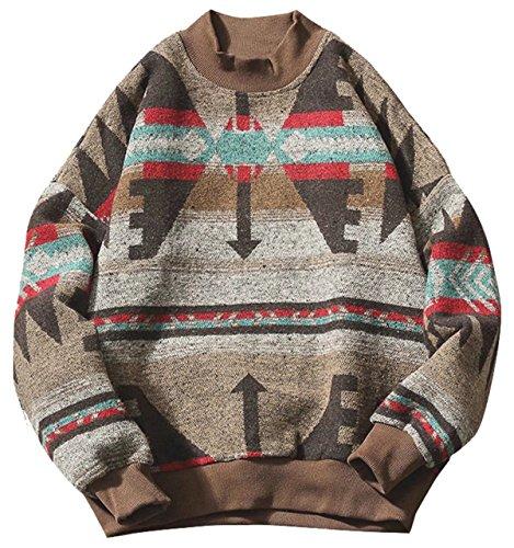 Retro Crewneck Sweatshirt - DigerLa Men's Vintage Floral Hoodies Sweatshirt Crew Neck Long Sleeve Tops