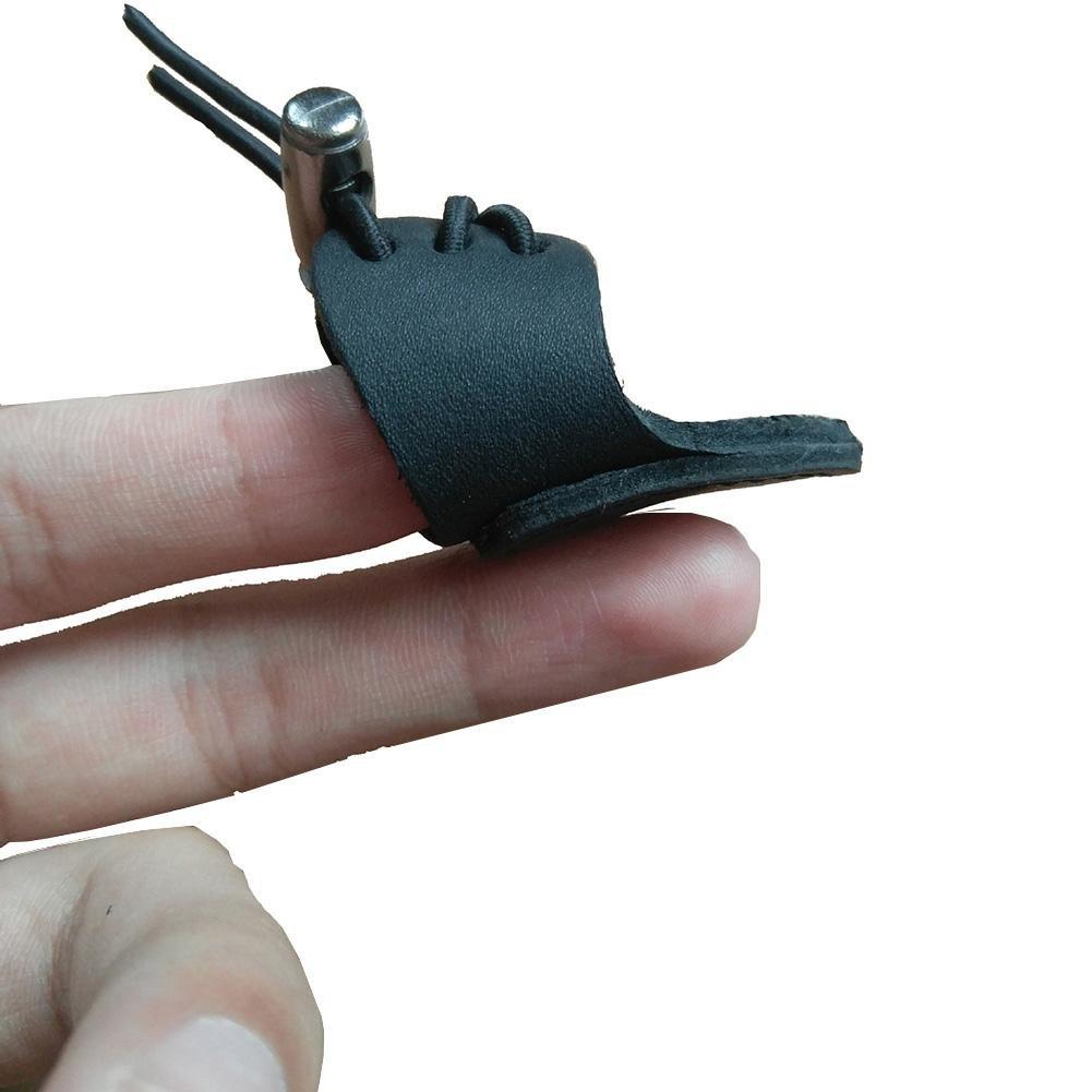 ZHUOTOP - Protector de dedo para el dedo de la caza y la caza para el dedo, negro