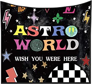 SC-OTT Tapestry ASTRO WORLD Series 2020 Tapestry,WISH YOU WERE HERE Tapestry 3D Boutique Wall Tapestry Wall Cool Aesthetic Funny Cute Tapestry for Home Living Room Bedroom Dorm Decor (59.1 x 51.2 inch)