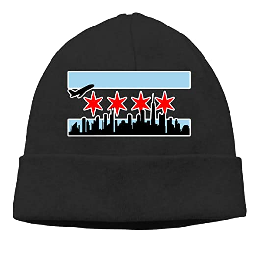 7e5e941c464 Chicago Skyline Beanie Hat Classic Toboggan Hat Winter Hats Knit Hat Beanies  for Men and Women