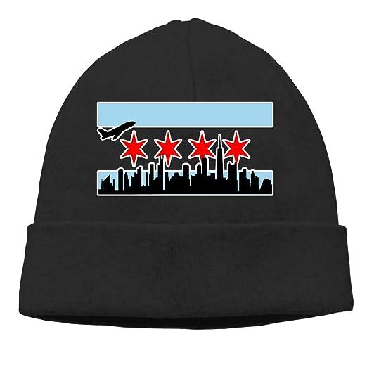 Chicago Skyline Beanie Hat Classic Toboggan Hat Winter Hats Knit Hat Beanies  for Men and Women d2d1f830ba