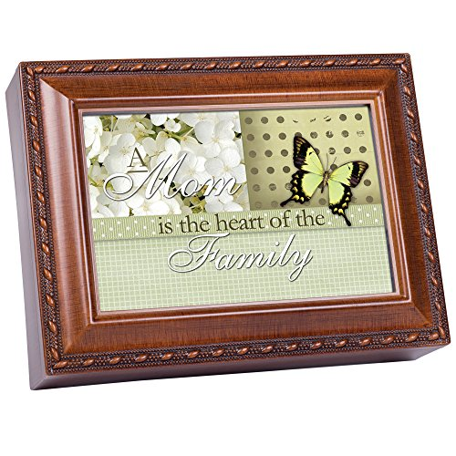 Mom Mother Heart of The Family Woodgrain Music Box/Jewelry Box Plays You Light Up My Life ()
