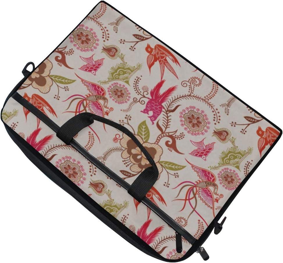 Laptop Bag Floral Bird 2 15-15.4 Inch Laptop Case College Students Business People Office Workers Briefcase Messenger Shoulder Bag for Men Women