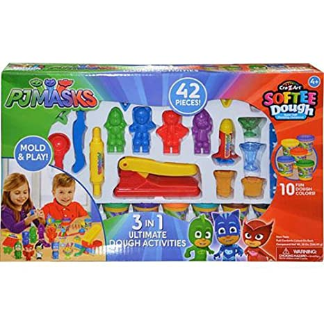 Amazon.com: PJ máscaras 3 en 1 Ultimate Softee masa playset ...