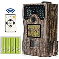 Deer Camera with Night Vision 12MP 1080HD 940nm No Glow Infrared for Deer Hunting By HUNTOOLER.